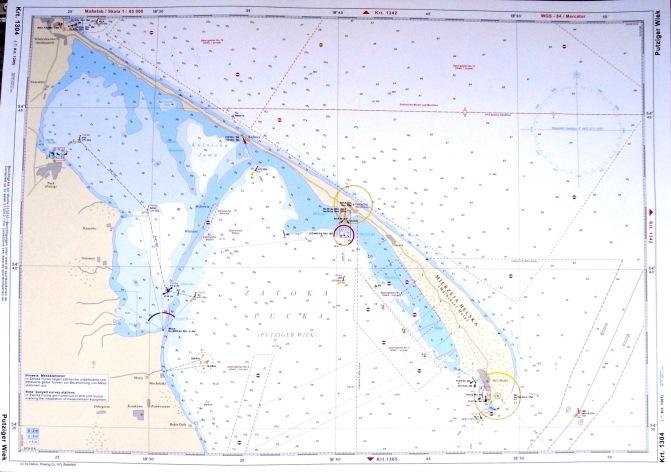 Carte maritime du golfe de Gdansk